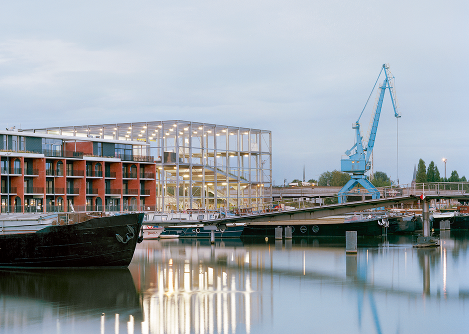 Melopee as a contemporary, municipal intervention in the broader master plan of Ghent's Old Docks area.