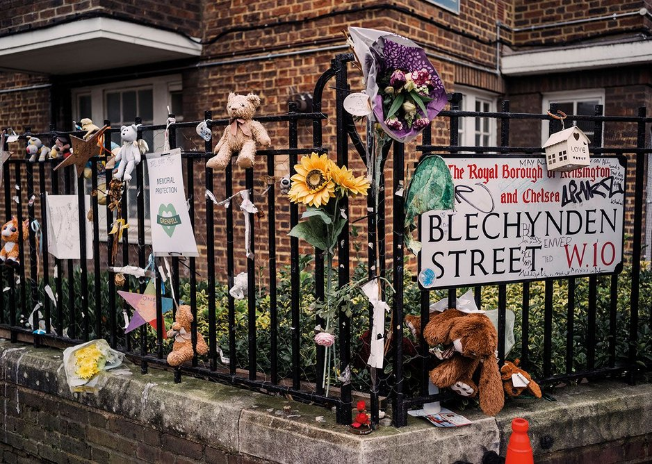 One of the corners on Bramley Road/Blechynden Street that has become a location for tributes.