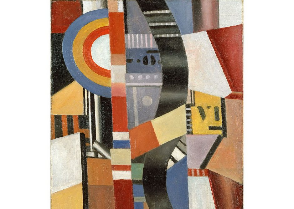 The Disc (Le Disque) 1918 by Fernand Léger, 1881-1955. Museo Nacional Thyssen-Bornemisza, Madrid.