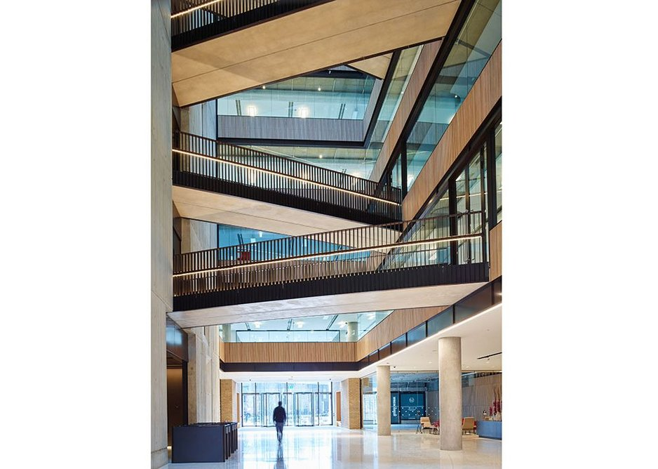 RIBA Regional Awards 2019 London West. Television Centre, White City. AHMM with MacCreanor Lavington, Morris+Co, dRMM, Mikhail Riches, Piercy+Co, Haptic, Archer Humphreys and Coffey Architects for Stanhope, Mitsui Fudosan, AIMCo, and BBC Studioworks.
