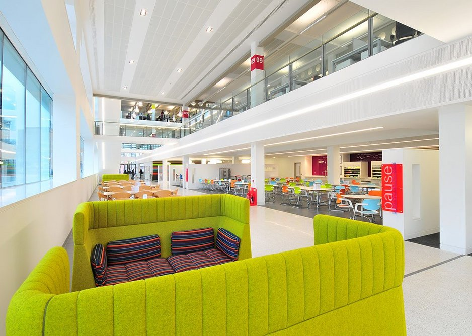 Armstrong micro-perforated metal tile ceiling at the offices of Birmingham City Council.