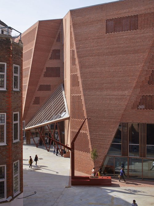 Saw Swee Hock Students' Centre at the London School of Economics, designed by O'Donnell & Tuomey, 2014.