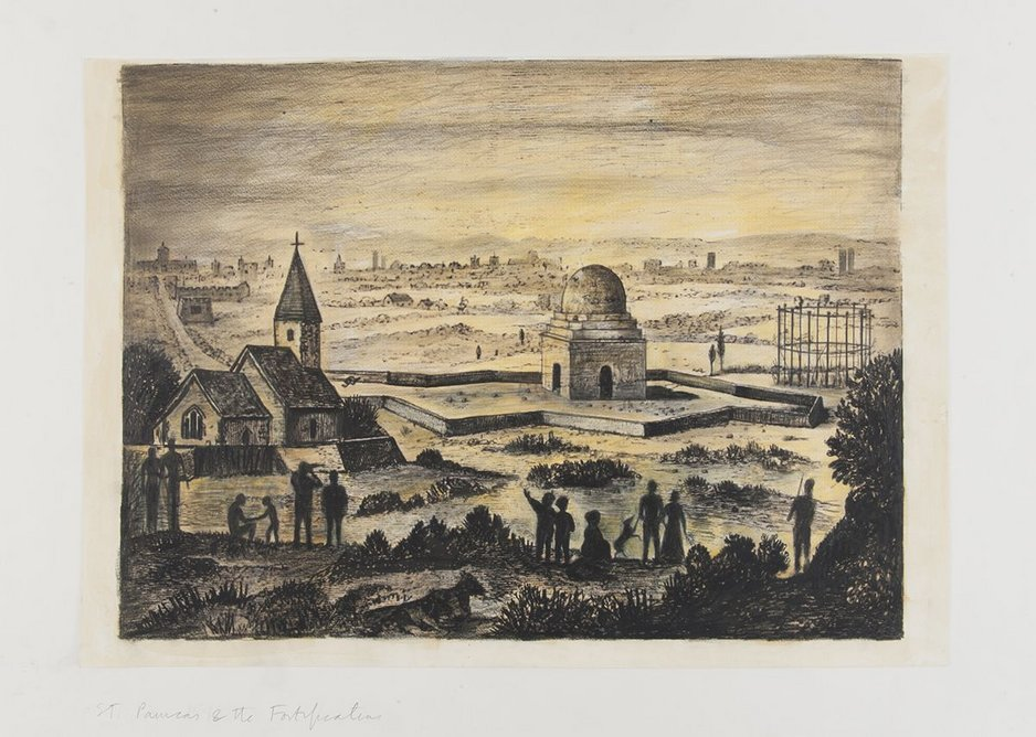 St Pancras Fortifications 1642.