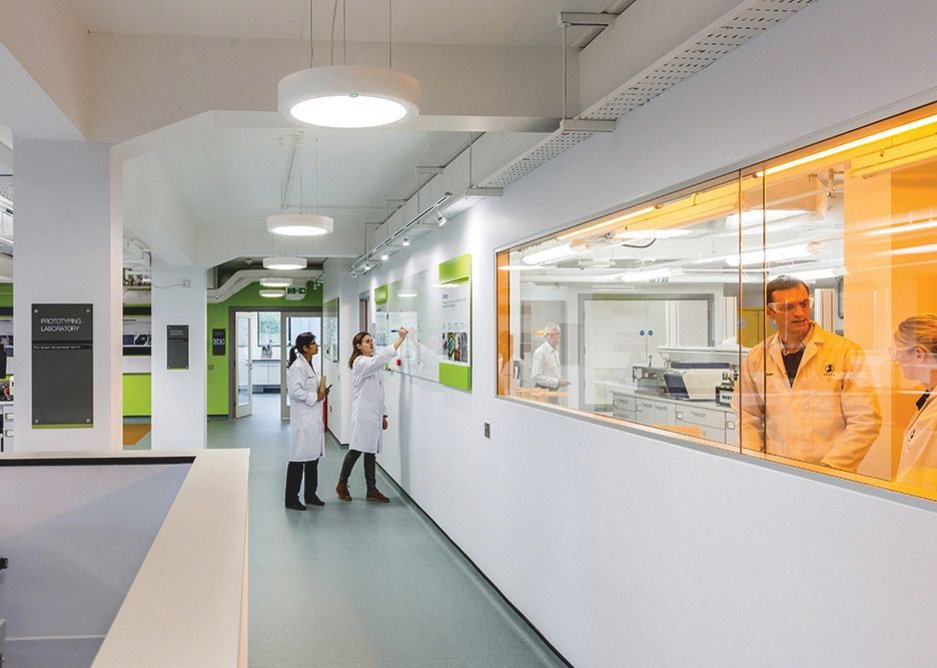 All on show to visiting dignitaries, the labs are a model of precision working.