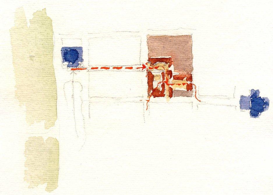 Watercolour of city context