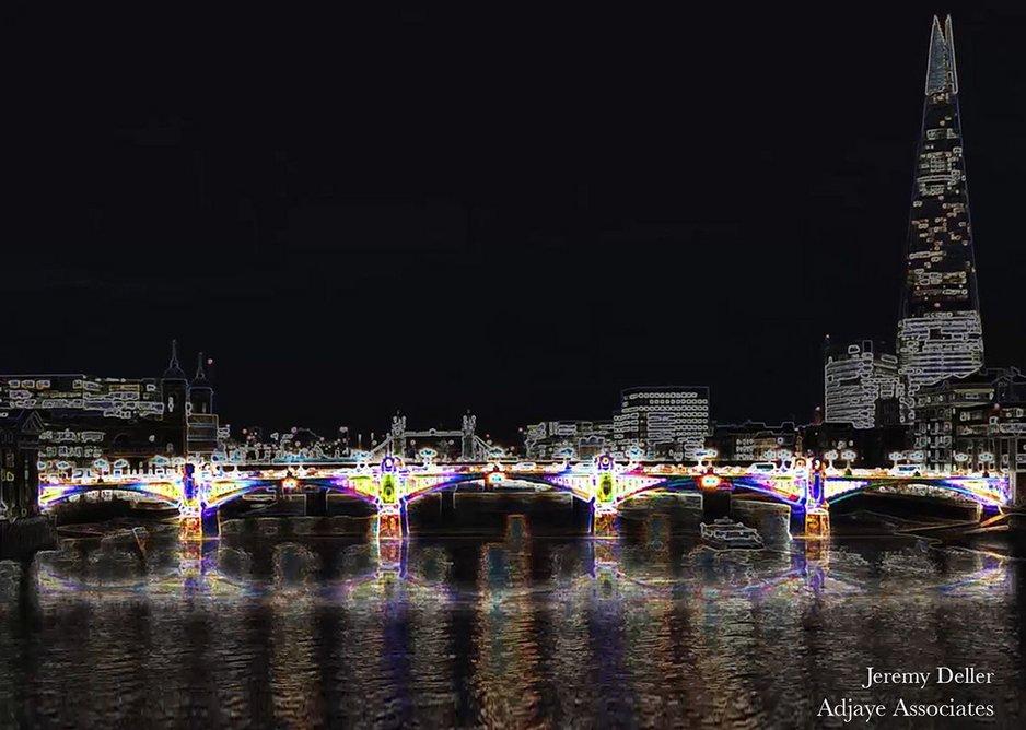 Jeremy Deller – 'Day Glow Bridge' (Southwark Bridge).