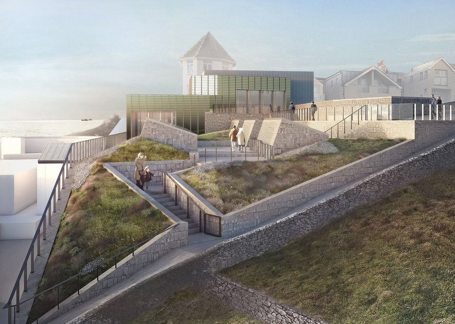 Tate St Ives rooftop visualisation.