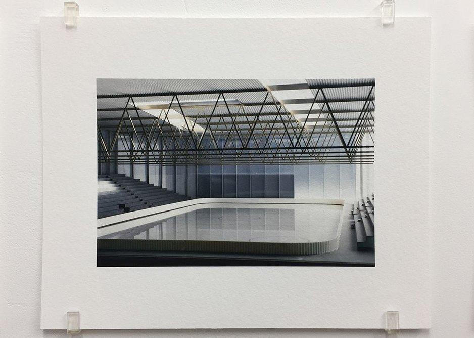 Caruso St John, Sporttheatre Arosa (2000), 2017, photograph, 16.8 x 21 cm, edition of 7.