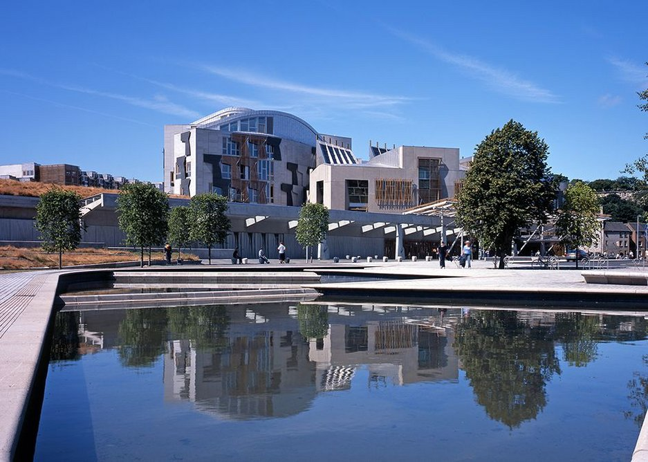 Scottish Parliament is one of the 100 buildings of the last 100 years touring Scotland in Scotstyle.