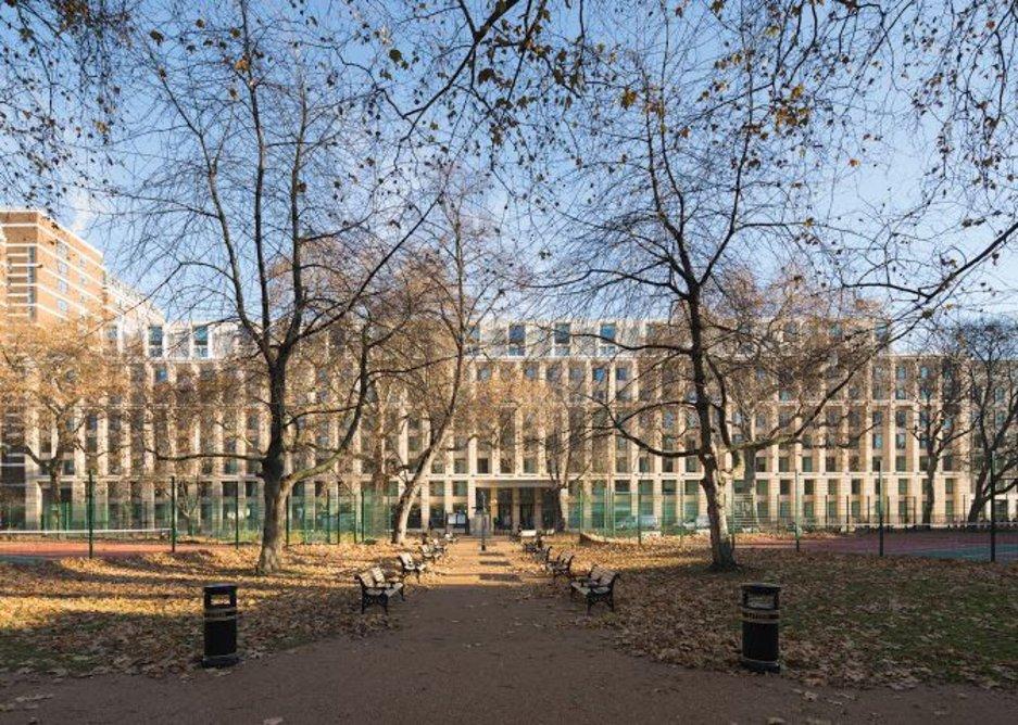 At nearly 120m long Cartwright Gardens is a megafacade.