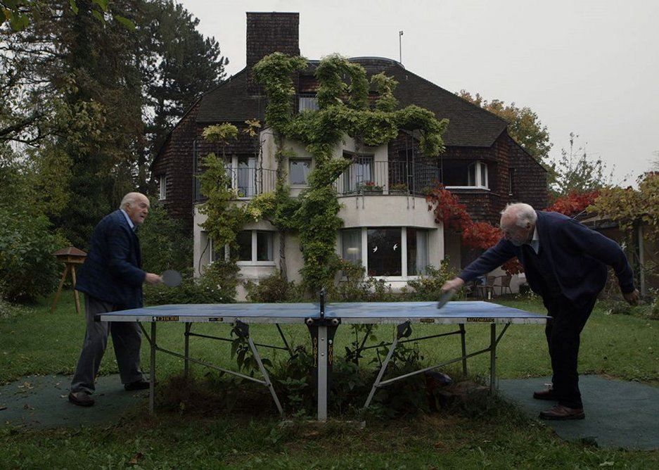 90-year-old Gottfried Bohm plays table tennis with his even older friend in Concrete Love.