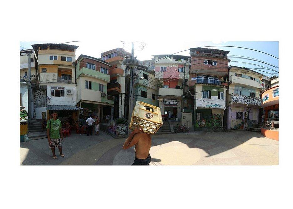 Before the paint Praca Cantao, Rio de Janeiro favela painting. Design and photo Jeroen Koolhaas