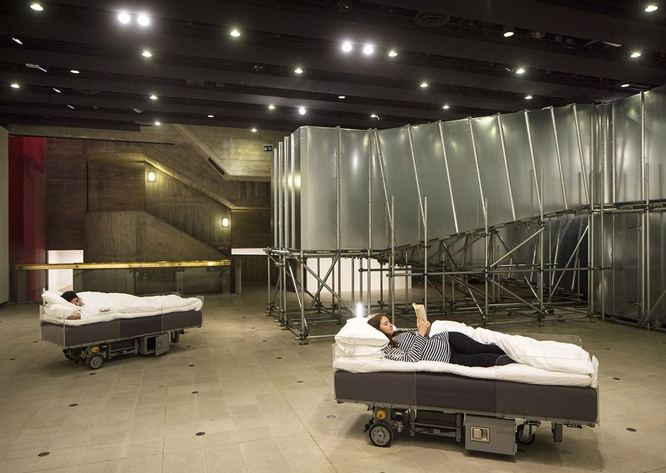 Relaxing in robotic beds?