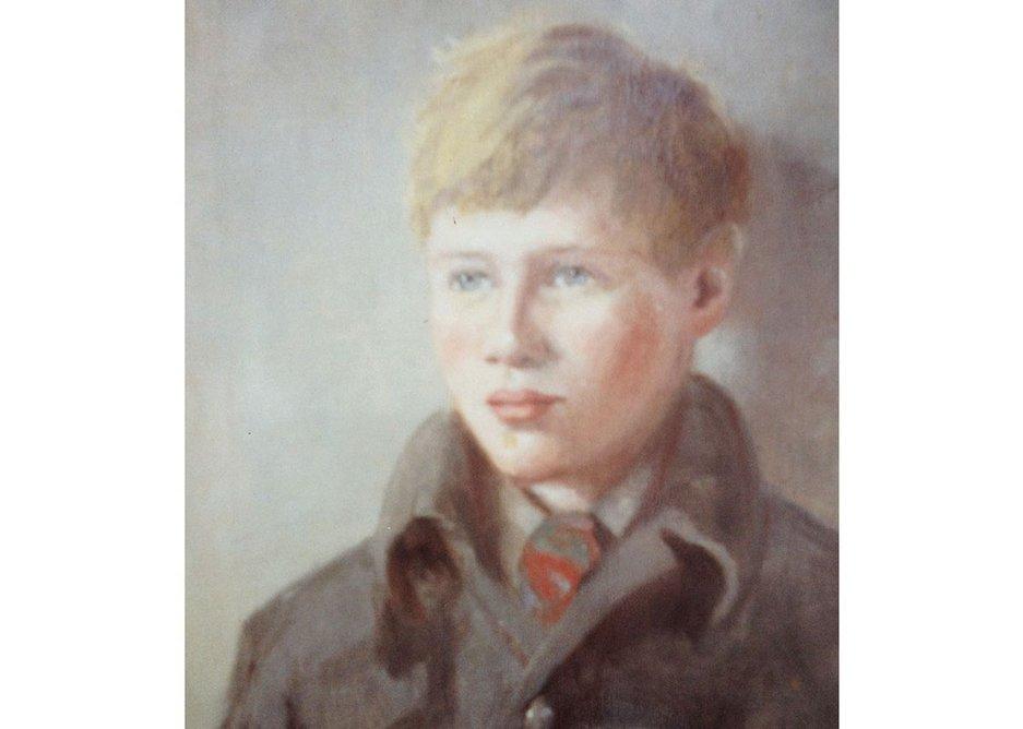 Childhood portrait by OM Dearsley, Grimshaw's grandmother.