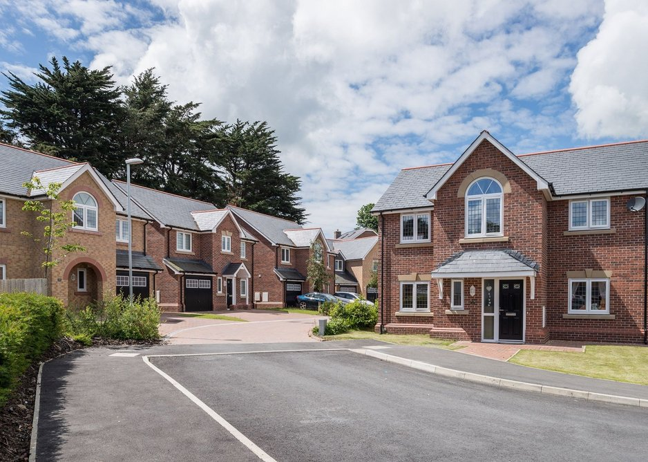Slate was the roofing material of choice for this housing development in Bangor, Wales.