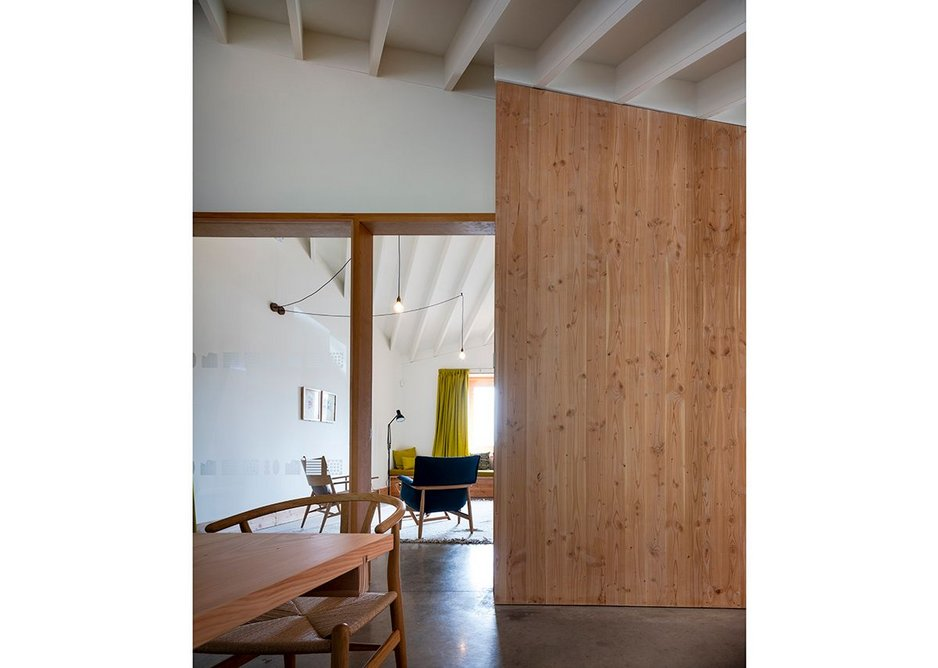 Deep frames to the door and glazing to the small rooms off the main space.