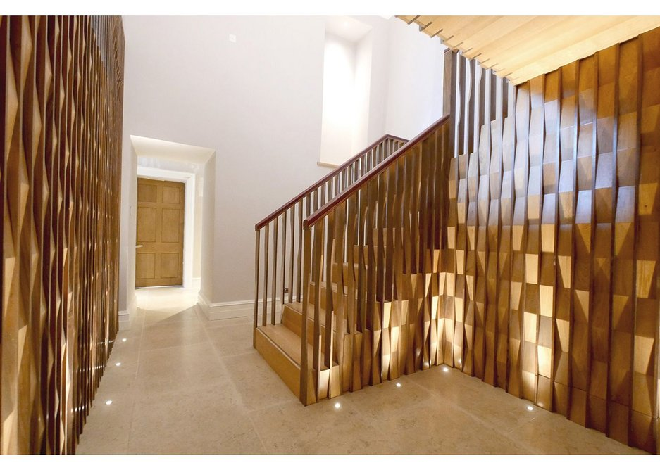 The Portledge Rear Staircase by Witcher Crawford Architects and Designers, Interiors Winner 2016.