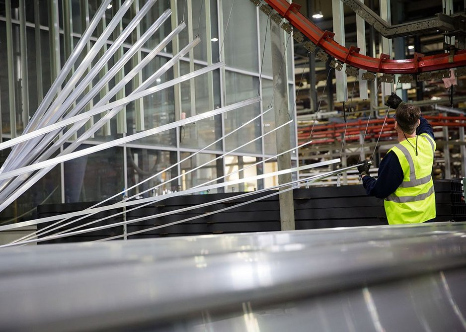 Recycled aluminium is used to produce Senior's aluminium profiles, while waste timber from the manufacture of its Hybrid systems is turned into 'fire sticks' to use as bio fuel in a new biomass boiler that heats the warehouse.