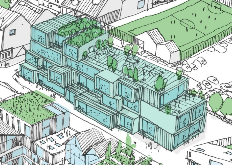 The start-up and innovation centre proposed for MawsonKerr's Shields Road masterplan.