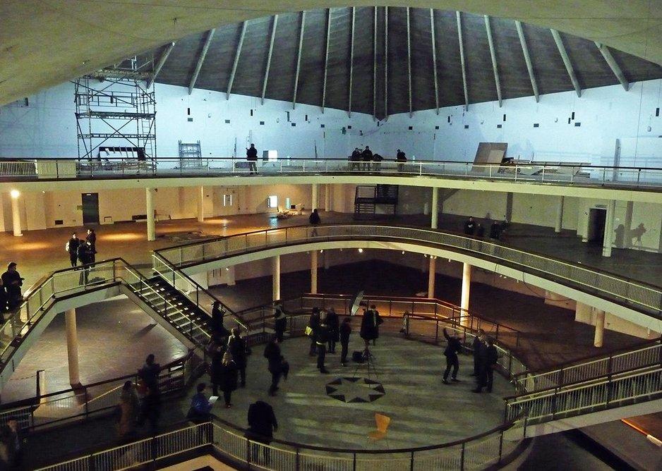 Original internal structure in 2012 before demolition began.