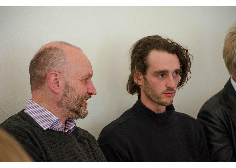 Hugh Pearman, RIBAJ editor (left) with Jamie Wilde, co-founder of Sheffield Foodhall.