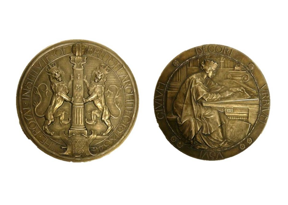 The RIBA Silver Medal for Measured Drawings. Designed by George Frampton, 1906. Awarded to Benjamin Stanley Tempest in 1927.
