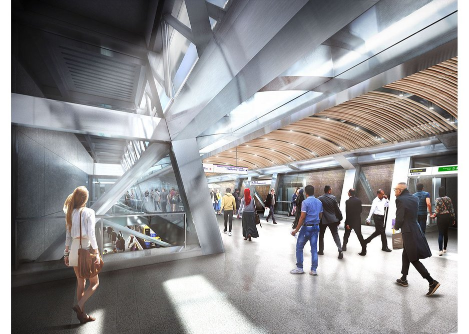 Whitechapel by BDP - the new upper concourse for Crossrail.