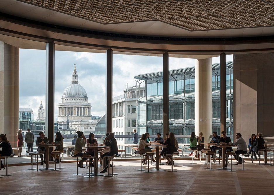 Bloomberg - double-height Pantry overlooking St Paul's Cathedral.