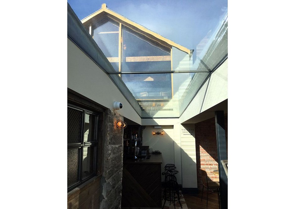 Glazing Vision rooflights specified by Martin Walsh Architectural.