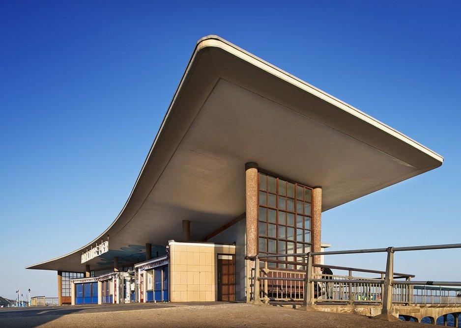 Neck Building, Boscombe Pier, Bournemouth by John Burton of Bournemouth Borough Engineer's Department.