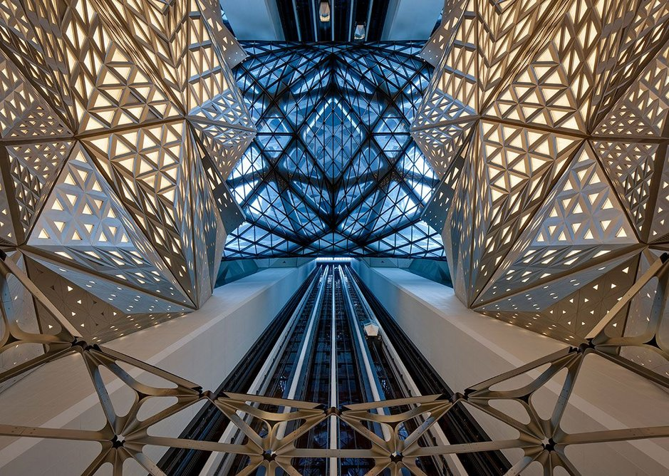 Reception atrium looking up