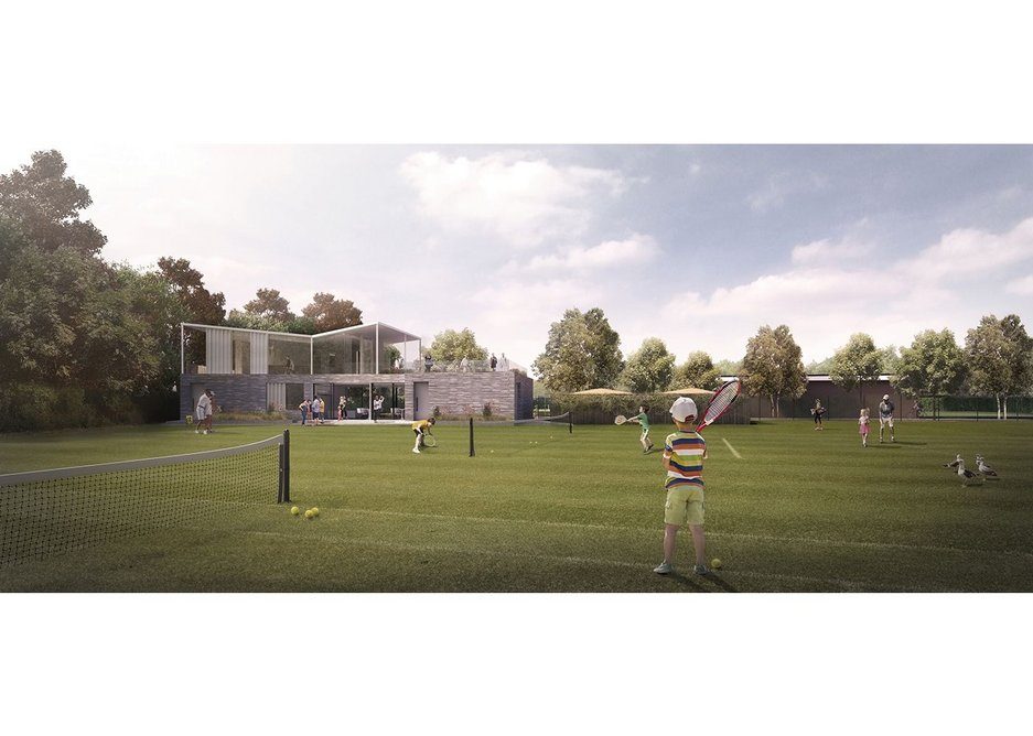 The Canoe Lake Tennis Club by PAD Studio is currently on site in Portsmouth.