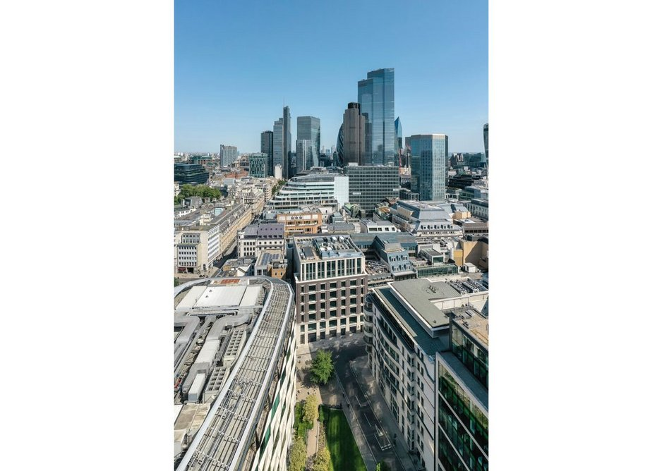 M - meet XXL. The two scales of the City with 22 Bishopsgate in the distance.
