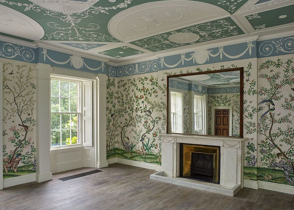 Upper drawing room, Pitzhanger Manor from the rear, Ealing, London (2019) designed by John Soane and reworked by Jestico + Whiles and Julian Harrap Architects.