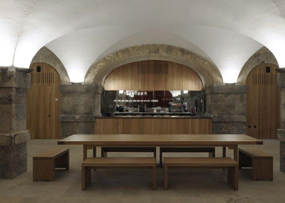 Interiors – Christ Church Crypt, Spitalfields by Dow Jones Architects. European oak in Hawksmoor's crypt.