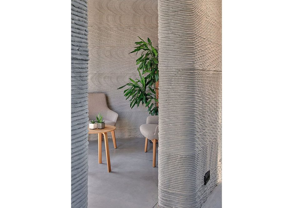 The walls were extruded in 15mm-deep layers creating a rough, textural surface