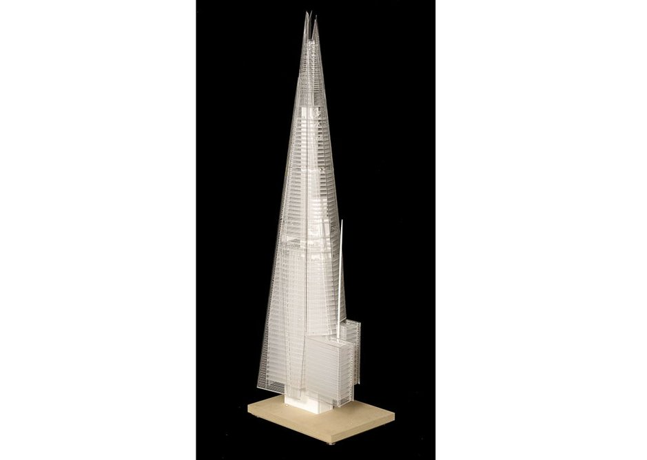 Renzo Piano Building Workshop, Model of the Shard, London.