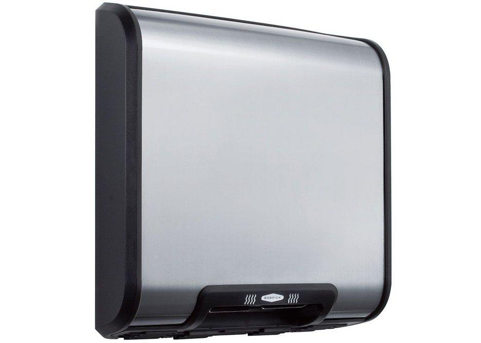 Bobrick's QuietDry Series low-profile TrimDry B-7128 hand dryer.
