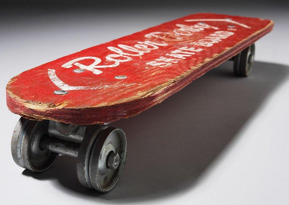 Plywood skateboard.