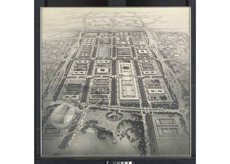 The famous Helmut Jacoby aerial perspective of how Milton Keynes would turn out. Credit Estate of Helmut Jacoby…