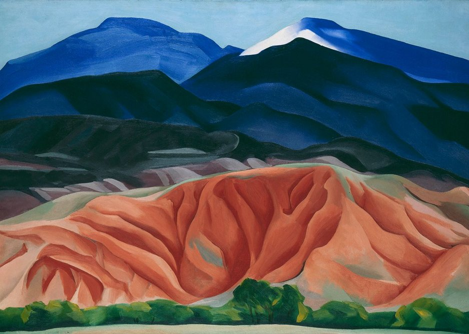 Black Mesa Landscape, New Mexico / Out Back of Marie's II by Georgia O'Keeffe, 1930. Georgia O'Keeffe Museum. Gift of The Burnett Foundation.