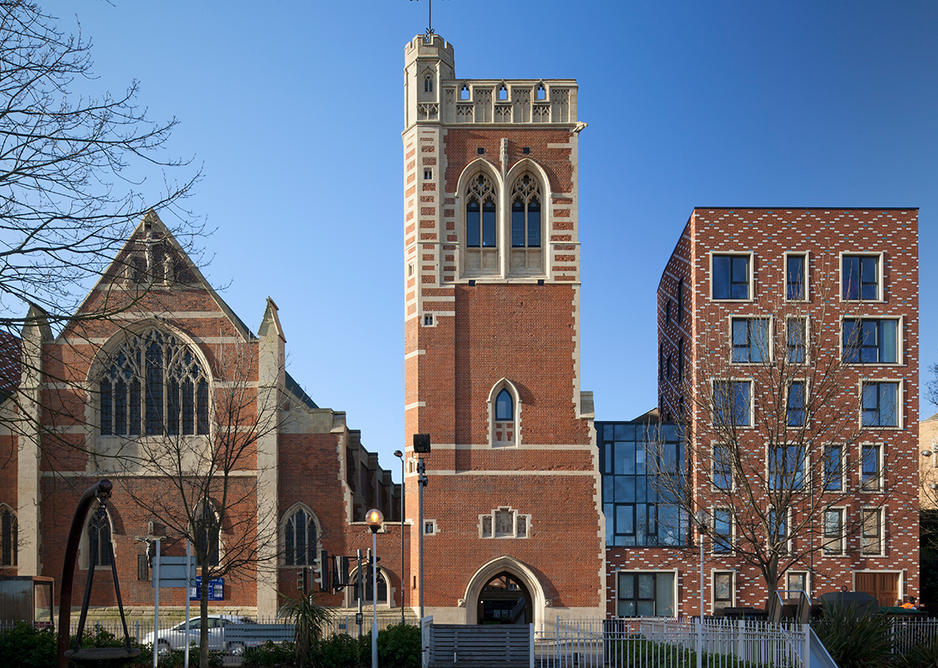 At St Mary of Eton in Hackney, Matthew Lloyd Architects designed new housing to enable a new church centre and community facilities.