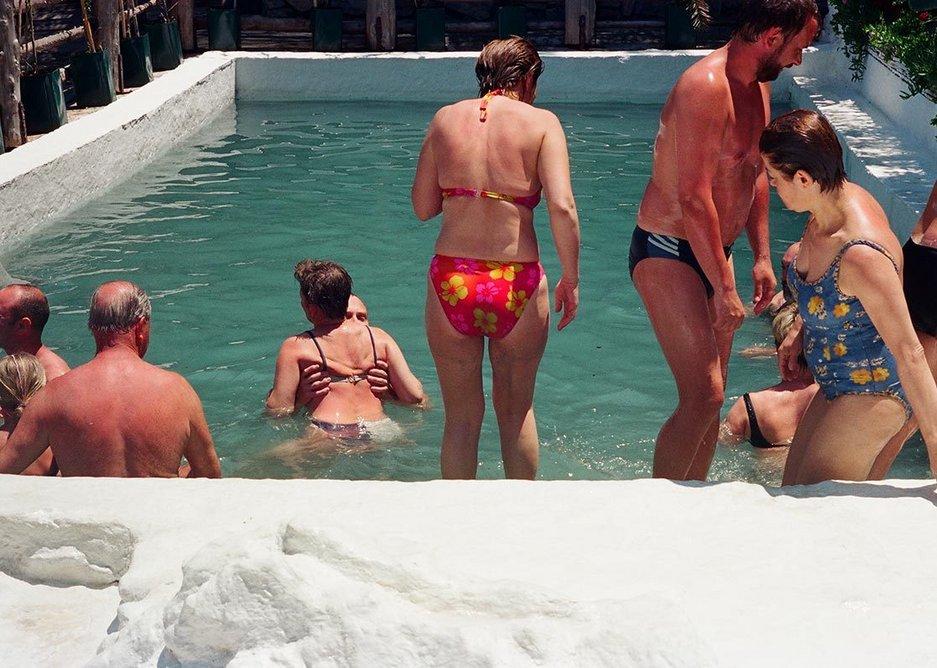 Thermal swimming pool. Pammukalle, Turkey.