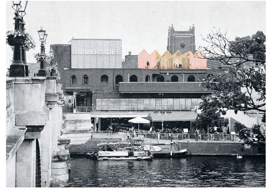 Reed Watts Architects' winning scheme, Rooftop Refuge, is proposed for the top of Bishop's Palace House on the banks of the river Thames in Kingston.