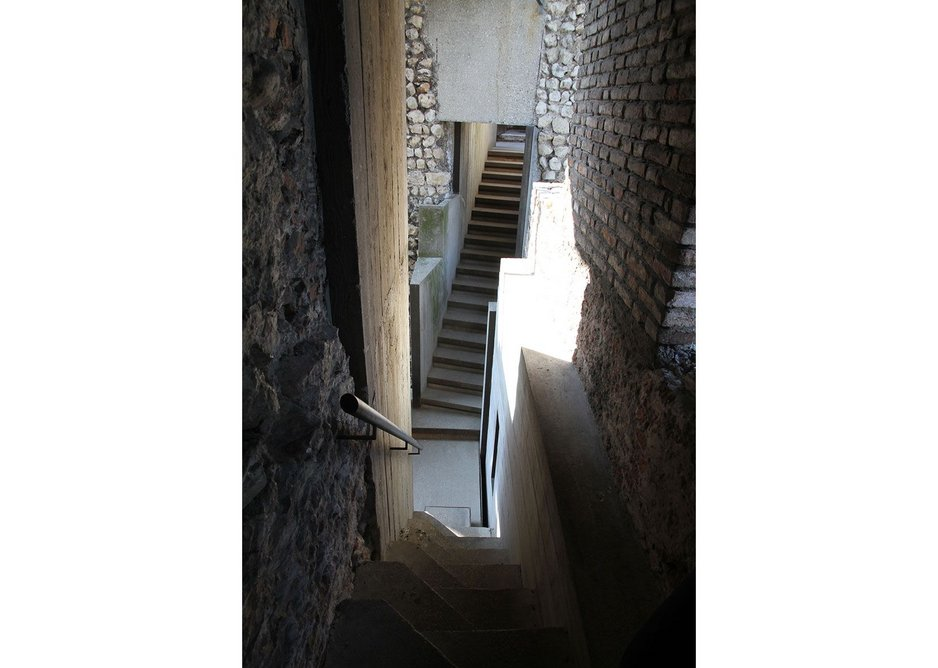 A reinvented past the stairs in the Cangrande space.