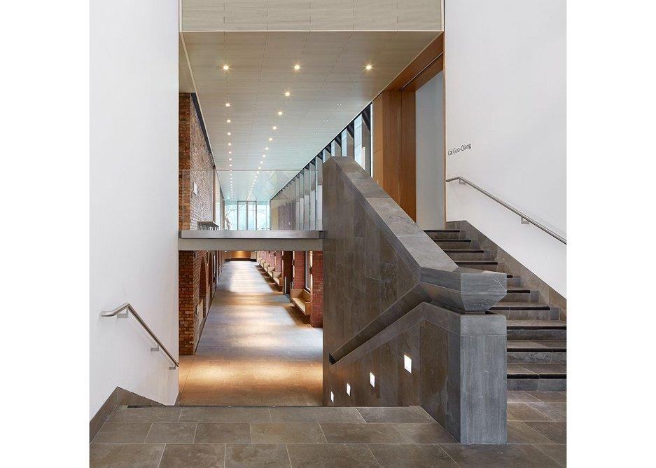 New stair – feel the handrail.