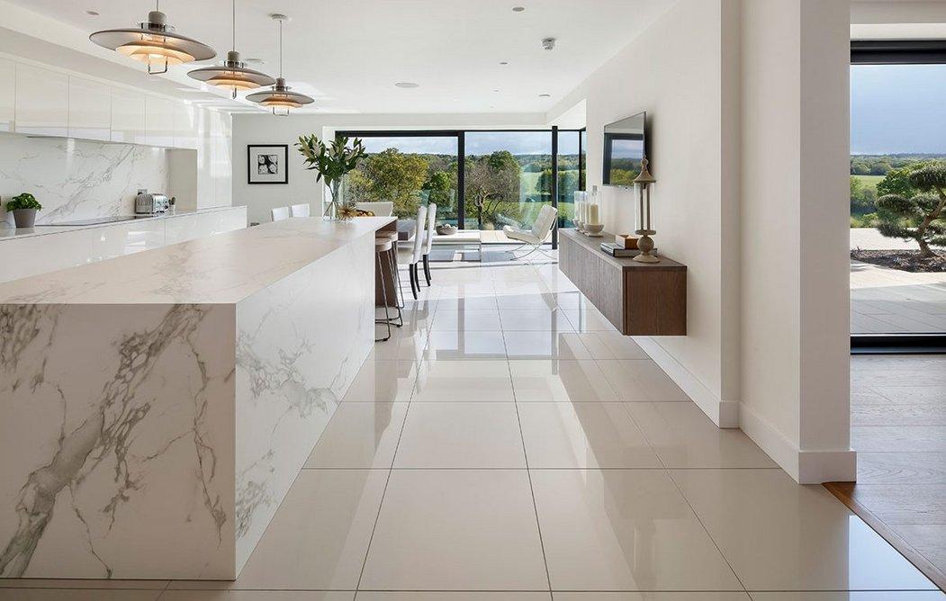 Large Schüco glazed doors ensure views through the house.