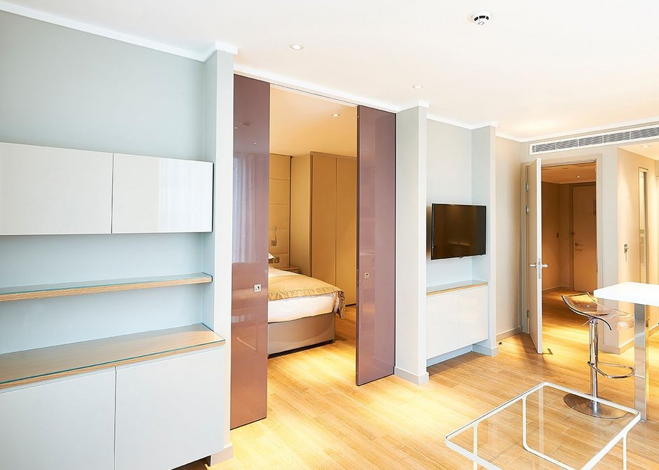 Contrasting Enigma pocket sliding doors to open-up rooms and create space · Credit: Selo