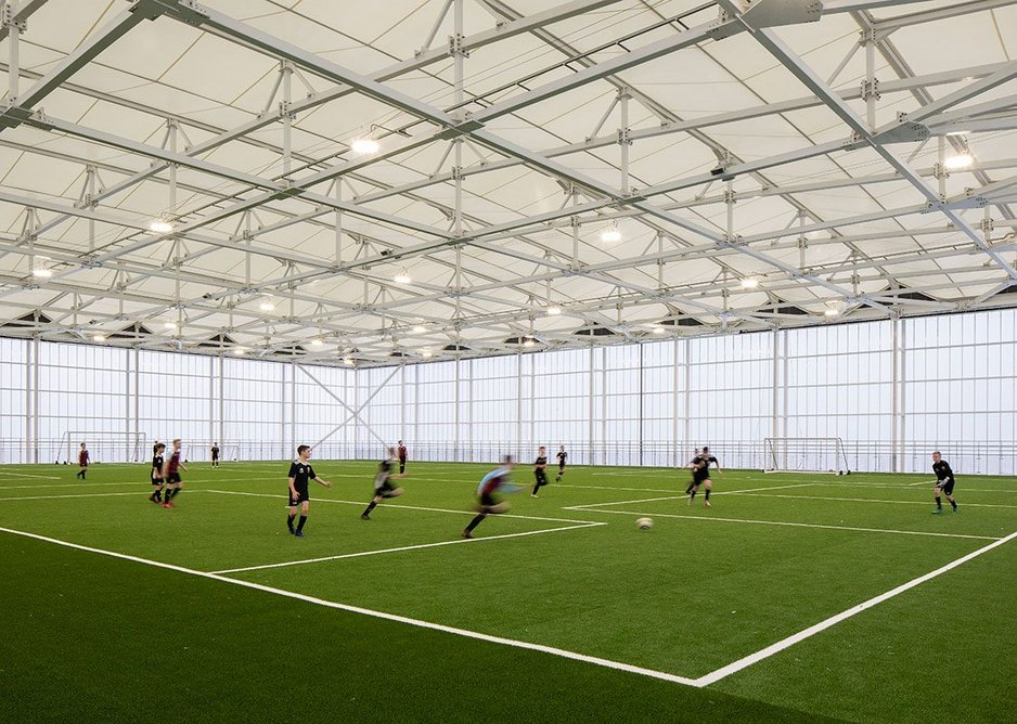 Rising to the state of the art 4G pitch on the roof brings a gasp of delight.