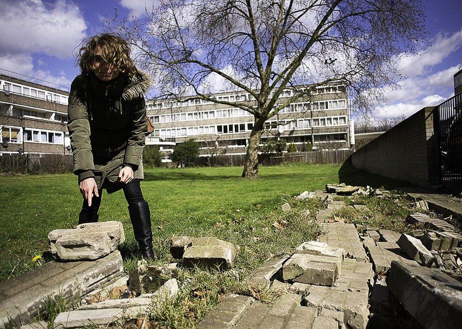 Artist in residence Nadege Meriau on the Aylesbury Estate.